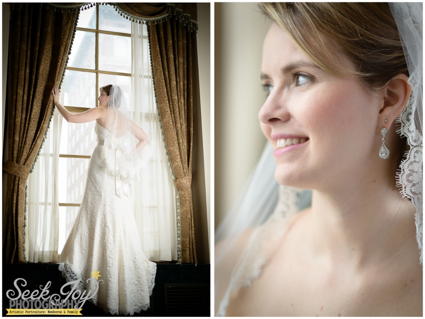 bridal portrait at westin poinsett hotel