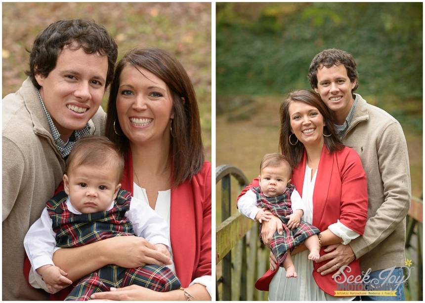 outdoor family portraits in greenville sc