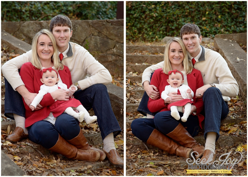Family Christmas Portrait with baby