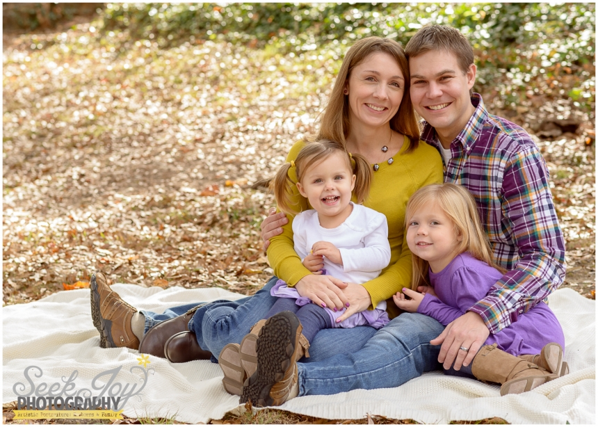 Fall Family Portraits at McPherson Park