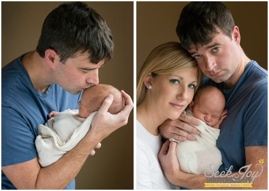 parents holding newborn son