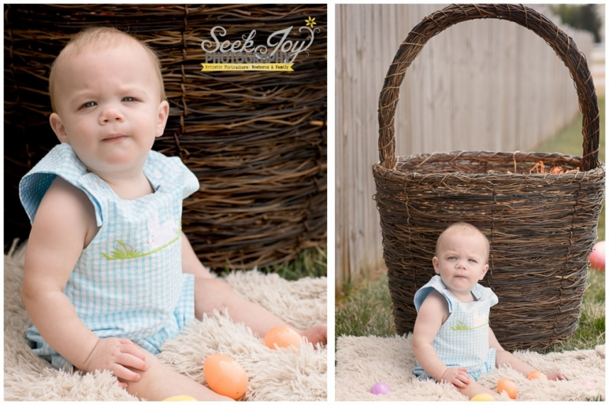 baby boy easter portrait