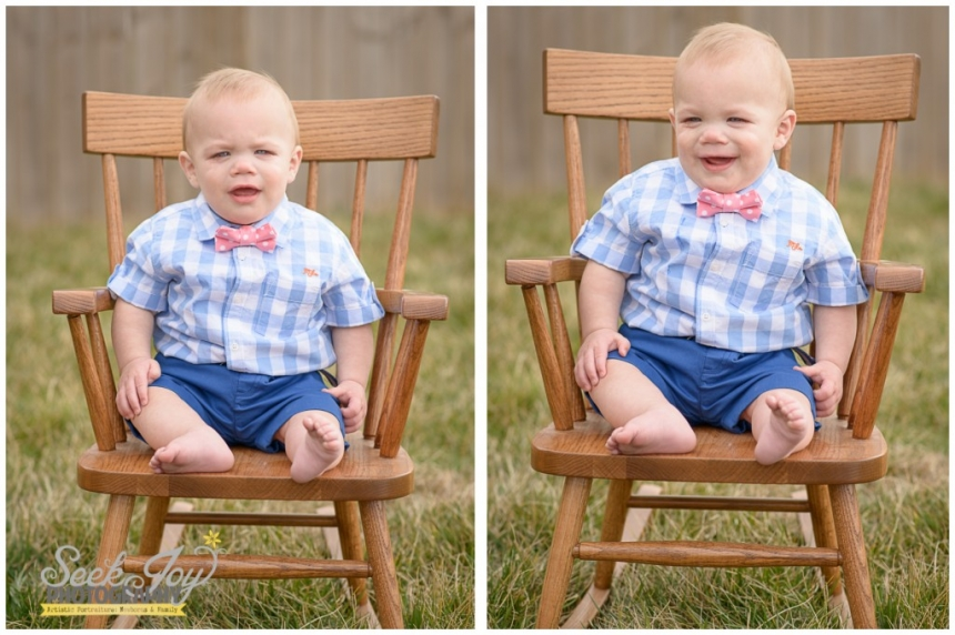 baby boy in rocking chair