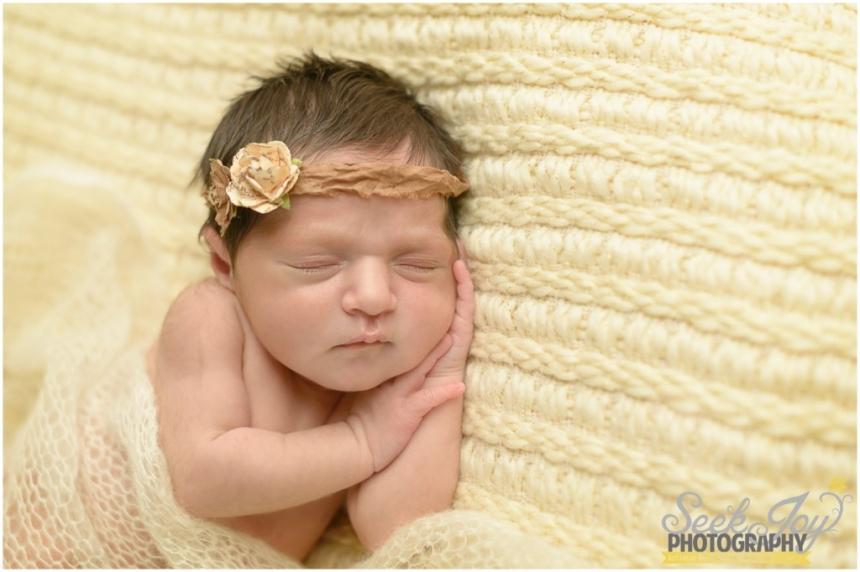 close up of newborn girl