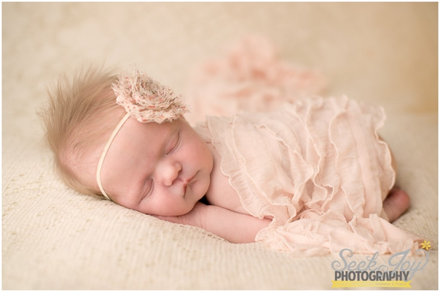 vintage inspired newborn portrait