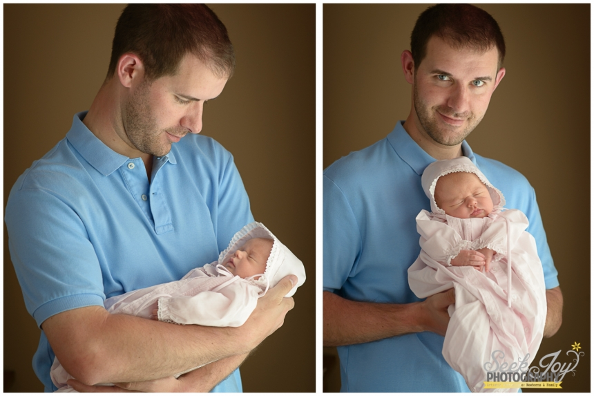 newborn photography with father
