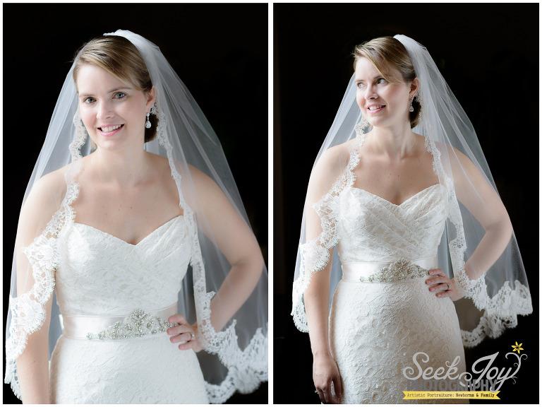bridal portrait at westin poinsett