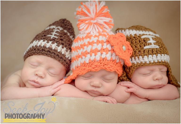 clemson photography of newborn triplets